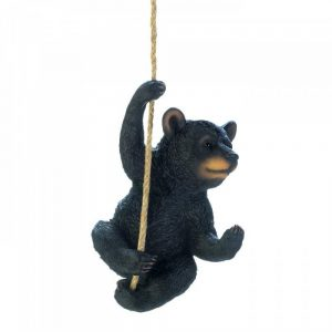 Hanging Bear Outdoor Garden Decor Statue